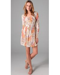 Zimmermann | Multicolor Fleeting Shirred Dress | Lyst