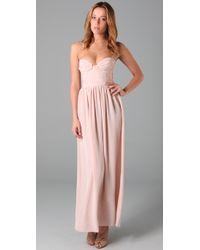 Zimmermann - Pink Rouched Bustier Dress - Lyst