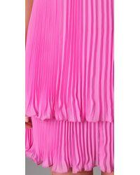 JOSEPH - Pink Margot Tiered Dress - Lyst