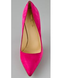 kate spade new york - Purple Licorice Suede Pumps - Lyst