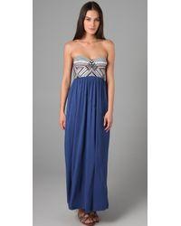 Mara Hoffman | Blue Embroidered Bustier Dress | Lyst
