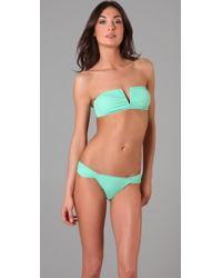 Mara Hoffman | Green V Wire Bikini | Lyst