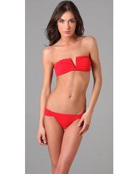 Mara Hoffman | Red V Wire Bikini | Lyst
