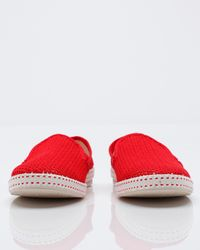 Rivieras | Red Mesh Slip-on Shoes for Men | Lyst