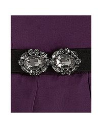 BCBGMAXAZRIA | Purple Grape Tiered One Shoulder Belted Gown | Lyst