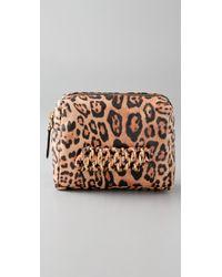 Dolce & Gabbana | Metallic Gilda Ocelot Frame Clutch | Lyst