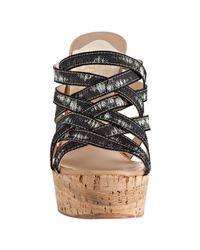 Christian Louboutin | Version Black Corniche 140 Ribbon Platform Wedge Sandals | Lyst