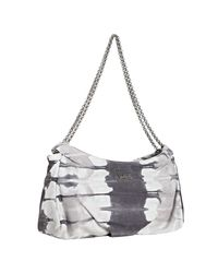 Christian Louboutin | Gray Grey Tie Dye Suede Bikini Chain Link Shoulder Bag | Lyst
