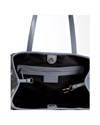 Dior - Blue Jeans Cannage Coated Canvas Panarea Small Tote - Lyst