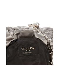 Dior | Gray Grey Cannage Quilted Satin Chain Link Crossbody Bag | Lyst