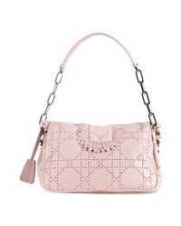 Dior | Pink Perforated Leather New Lock Chain Baguette | Lyst