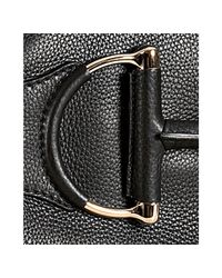 Gucci - Black Pebbled Leather Heritage Cellarius Horsebit Web Stripe Hobo - Lyst