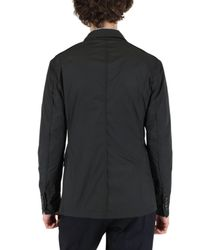 Lanvin | Black Double Breasted Nylon Jacket for Men | Lyst