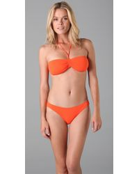 Parker | Orange Bandeau Bikini Top | Lyst