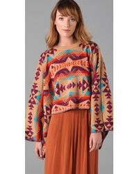 Opening Ceremony - Brown Knit Poncho Sweater - Lyst