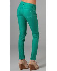 Rag & Bone - Green Denim Skinny Jeans - Lyst