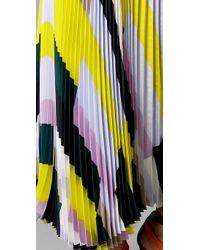 SUNO - Multicolor Pleated Long Skirt - Lyst