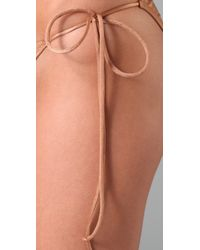 Thayer - Natural Triangle Bikini - Lyst