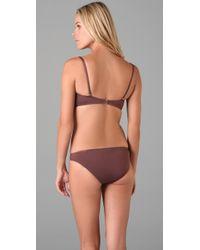 Tibi - Brown Bustier Bikini Top - Lyst