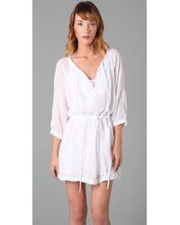 Velvet By Graham & Spencer | White Serlina Tunic Dress | Lyst