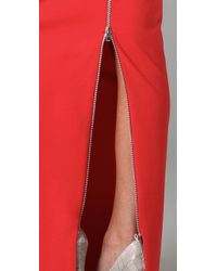 Acne Studios - Red Pearl Skirt - Lyst