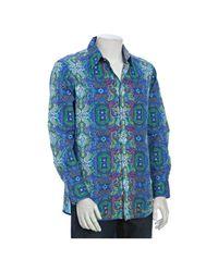Robert Graham   Blue Newton Abbot Classic Fit Woven Shirt for Men   Lyst
