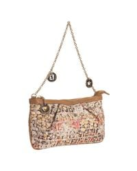 Fendi - Natural Yellow Floral Zucchino Canvas Forever Pochette - Lyst
