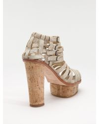 Opening Ceremony | Natural Strappy Platform Sandals | Lyst