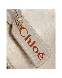 Chloé | Metallic Champagne Faux Leather Eden Small Crossbody Bag | Lyst