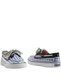 Sperry Top-Sider | Bahama - Blue Gingham Boat Shoe | Lyst
