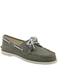 Sperry Top-Sider | Green Authentic Original 2 Eye - Olive Canvas Boat Shoe | Lyst
