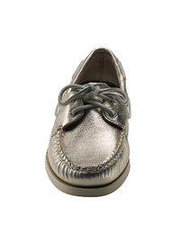 Sperry Top-Sider | Brown Montauk - Platinum Metallic Leather Boat Shoe | Lyst