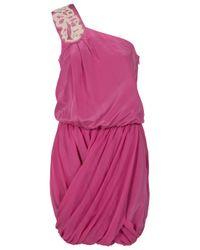 Tibi   Purple Farrah Beaded One Shoulder Dress   Lyst