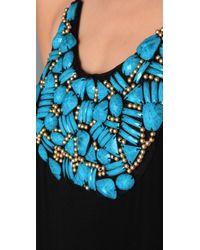 T-bags | Black Necklace Bib Long Dress | Lyst