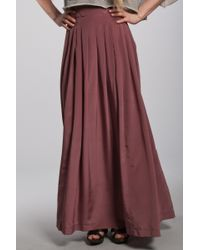 Lover | Pink Silk Maxi Skirt in Rose | Lyst