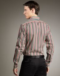 Ralph Lauren - Black Bond Striped Poplin Shirt for Men - Lyst