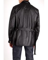 Barbour Black Union Jack International Jacket In Black For