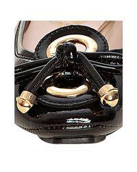 Elie Tahari | Black Patent Leather Janine Driver Flat | Lyst