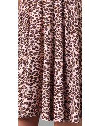 Free People - Pink Leopard Print Dress - Lyst