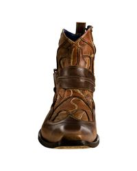 Mark Nason - Brown Rock Lives Cognac Stitched Leather Basemint Harness Boots for Men - Lyst
