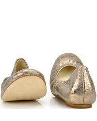 Vera Wang Lavender - Metallic Lillian - Anaconda White Snake Print Ballet Flat - Lyst