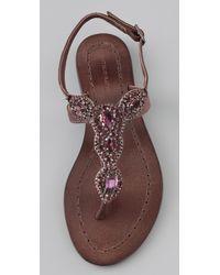Antik Batik - Brown Akan Stone Flat Thong Sandals - Lyst