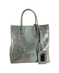 Balenciaga - Gray Light Blue Metallic Calfskin Milky Way Papier A5 Tote - Lyst