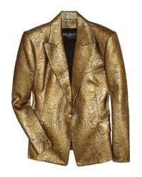 Balmain | Metallic Brocade Jacket | Lyst
