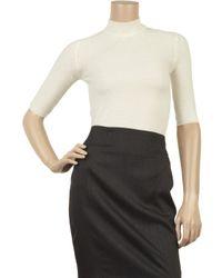 Calvin Klein   White Helena Cashmere-blend Sweater   Lyst