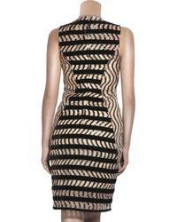 Christopher Kane - Black Crystal-Embellished Wool-Crepe Dress - Lyst