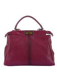 Fendi | Purple Regular Peekaboo Top Handle Bag | Lyst
