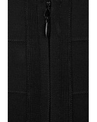 Hervé Léger - Black Color-block Bandage Mini Skirt - Lyst