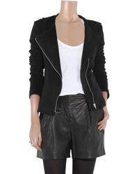 Lot78 - Black Ziggy Brushed-cotton Biker Jacket - Lyst