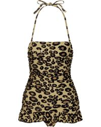 Manoush | Multicolor Sequin-embellished Leopard-print Swimsuit | Lyst